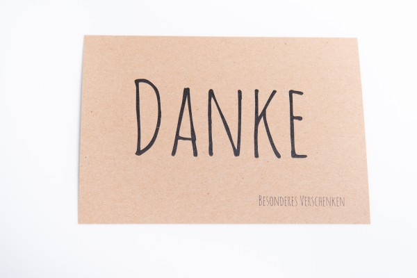 "Krafpapierkarte ""Danke"" von Präsentstadl"
