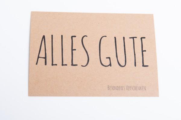 "Kraftpapierkarte ""Alles Gute"""