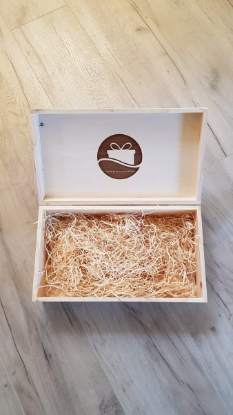 Holzkassettenbox aus Kiefernholz